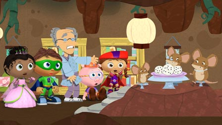 Super Why The Rolling Rice Cakes